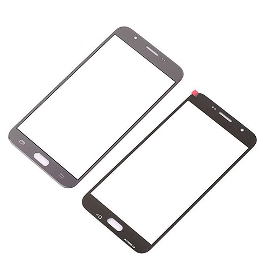 Front Outer Glass Top Lens Screen for Samsung Galaxy J7 2017 J727 Grey