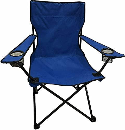 Silla Camping Plegables, 1 Unidad, 50x50x80cm, Sillas para Exteriores, Estructura Estable, Capacidad de Carga hasta120 kg (Azul Marino, 1)