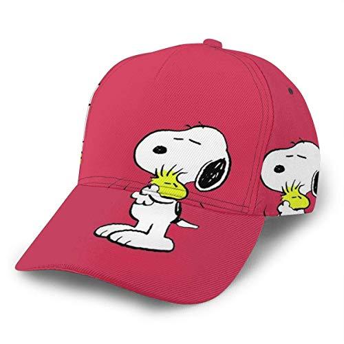 Ives Jean Baseball Cap Men Women - Snoopy mit Freunden Unisex Classic Verstellbarer Papa Hut für Lauftraining und Outdoor Black