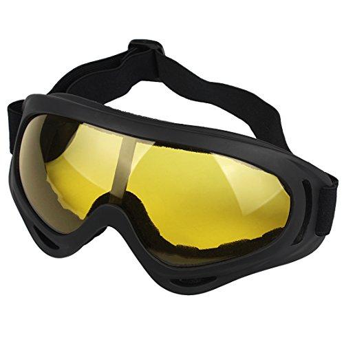 Andux Zone Jagd Airsoft X400 Wind Staubschutz Tactical Schutzbrille-Motorrad Brille GL-04 (yellow)