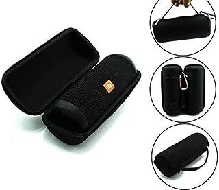 JBL Flip 3 Splash proof Portable Bluetooth speaker, Black PLUS Protective Hard Cover Portable Case, Black with keychain.