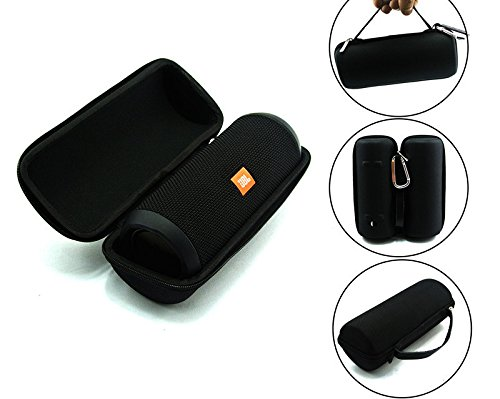 Fantastic Deal! JBL Flip 3 Splash Proof Portable Bluetooth Speaker, Black Plus Protective Hard Cover...