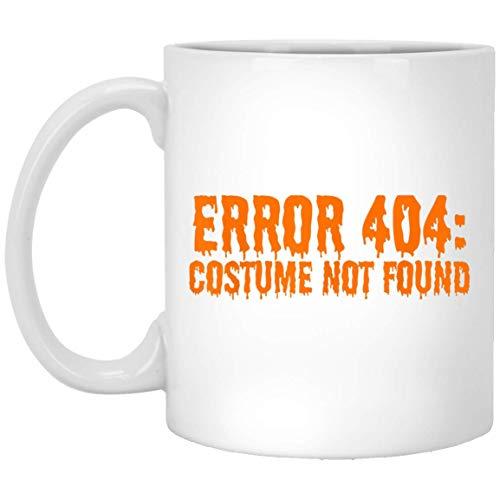Fout 404 Kostuum niet gevonden Grappig Halloween T-Shirt 11 oz. Witte mok