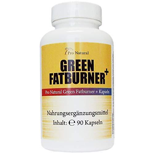 Green Fatburner + 90 Kapseln - 100% Natürlich - Guarana Extrakt - Grüner Kaffee - Grüner Tee - B6 & B12 Vitamine - geeignet für Frauen und Männer
