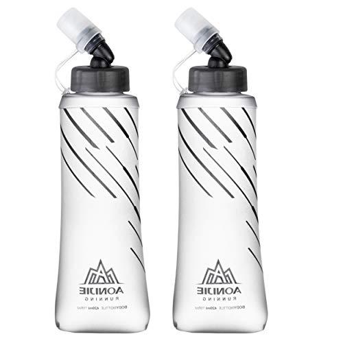 Azarxis Drinkfles, zacht, sport, opvouwbaar, TPU, zachte fles, opvouwbaar, BPA-vrij, voor drinkrugzak, wandelen, hardlopen, klimmen