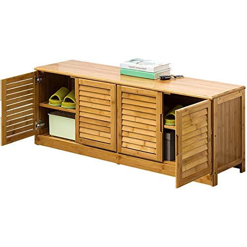 JenLn Zapatero y Banco de Zapatos y gabinete de Zapatos y Organizador de Arranque con Compartimento de Almacenamiento Oculto (Color : Brown, Size : 124x33x46cm)