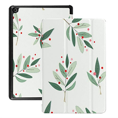 Case For Fire Hd 8 Tablet (2018/2017/2016 Release),Christmas Tree Winter Season Collage Case Cover With Auto Wake/sleep