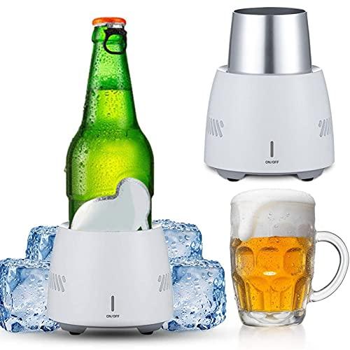 Enfriador Latas De Agua De Cerveza Portátil, Enfriador Instantáneo De Bebidas, Refrigerador De Enfriamiento Rápido De Escritorio, Enfriador De Botellas De Coche Para El Hogar Y Los Viajes 350ml