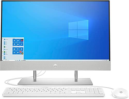 HP 24-dp0007ng (23,8 Zoll / Full HD Touch) All-in-One PC (AMD Ryzen 5 4500U, 8GB DDR4 RAM, 1TB HDD, 256GB SSD, AMD Radeon RX Vega 6, Windows 10) silber