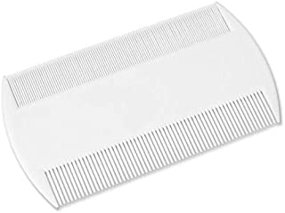 2 Pieces White Double Sided Nit Combs for Head Lice Detection Comb Kids Pet Flea