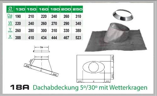 Dachdurchfuehrung 5-30° für Schornsteinsets 150mm