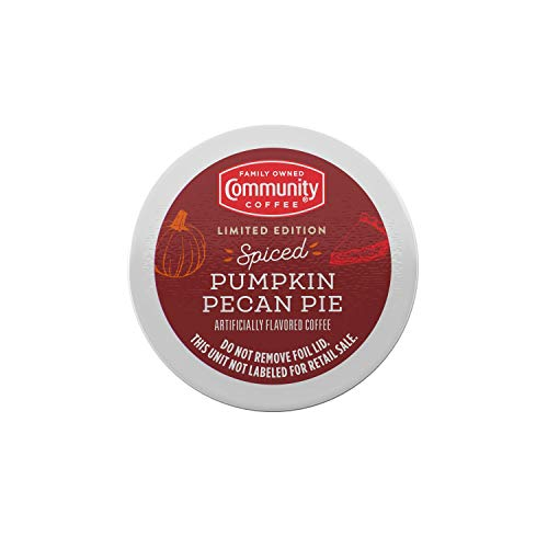 Community Coffee Spiced Pumpkin Pecan Pie Flavored 36 Count Coffee Pods, Compatible with Keurig 2.0 K-Cup Brewers (12 Count, Pack of 3)