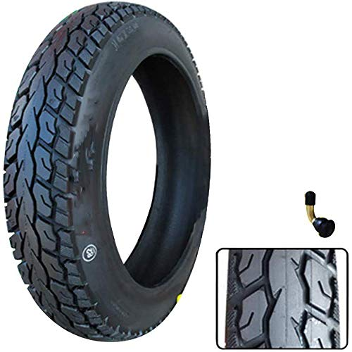 WYDM Neumáticos de vacío Antideslizantes de 16 Pulgadas 16X2,50/3,0, neumáticos Gruesos Resistentes al Desgaste de 8 Capas, Accesorios eléctricos para neumáticos de Motocicleta