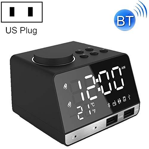 N/A klok Chang K11 Bluetooth-wekkerluidspreker Creative digitale muziek-klok-weergave-radio met dubbele USB-interface, ondersteuning U disk, TF/FM/AUX, US-stekker
