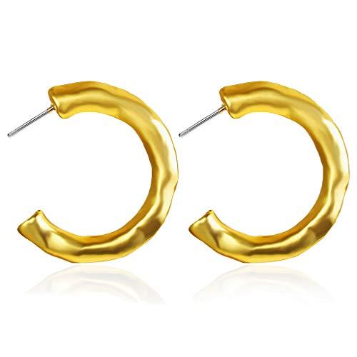 Gloss Oorbellen Creative Vintage Simple Gouden Letter C Stud Earrings