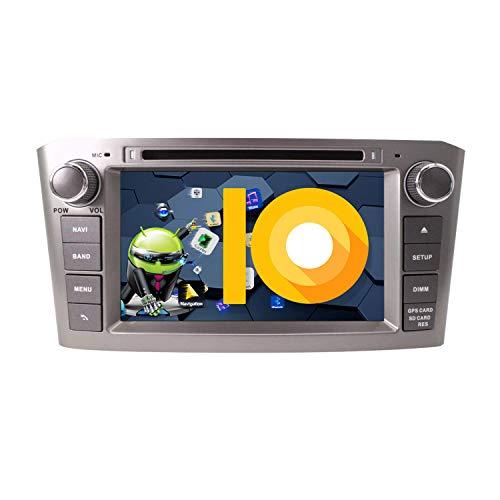 ZWNAV 7 Pulgadas Andriod 9.0 2 DIN Auto Stereo Navi Bluetooth Navegación GPS para Toyota Avensis T25 2002-2008 Unidad de Control del Volante Radio del Coche Reproductor de DVD