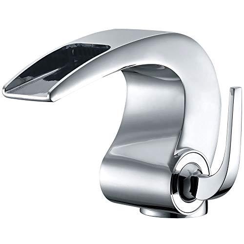 Design Bad Waschbecken Waschtisch Einhebel Armatur Wasserhahn Chrom Sanlingo Serie TORA