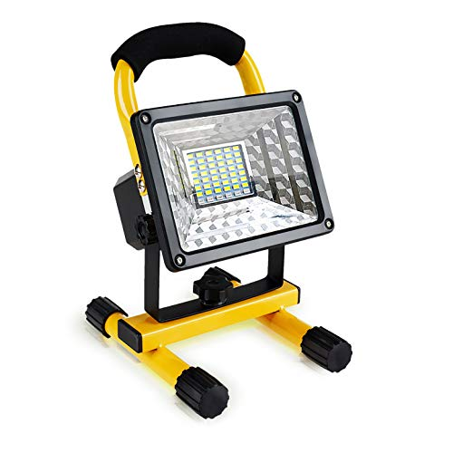 [30W 36LED] Lanfu Portable LED Spotlights Work Light Outdoor Camping Fishing Repairing Lighting, Built-in Rechargeable Lithium Batteries (with 2 USB Ports to Charge Mobile Device and SOS Modes,IP65)