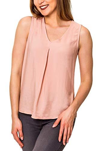 VERO MODA Damen Top Blusentop Tunika mit V-Ausschnitt (36 (Herstellergröße: S), Misty Rose)