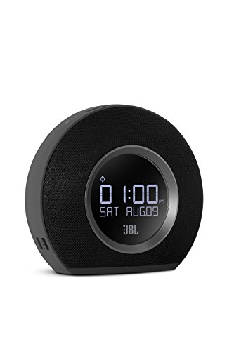 JBL Horizon - Bluetooth Clock Radio with USB Charging and Ambient Light - Black