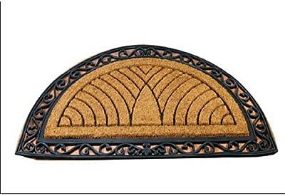 IH CASADECOR Moulded Half Moon Coir Door mat, Multi