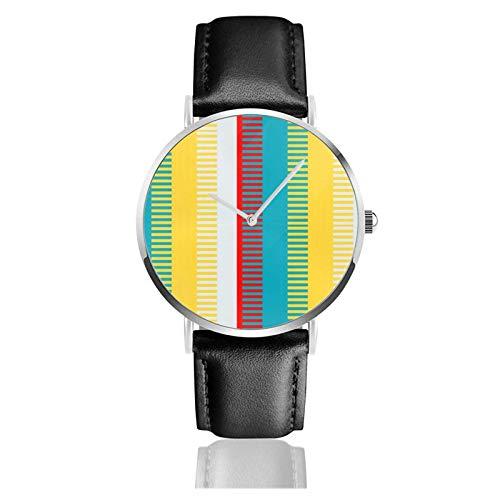 Rot Blau Gelb Weiß Grau Schicke Uhr Quarzwerk Wasserdichtes Leder Uhrenarmband Für Männer Frauen Einfache Business Casual Uhr
