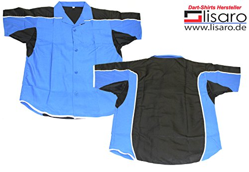 Lisaro Darthemd/Bowlinghemd blau-schwarz (XL)
