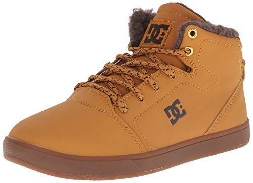 DC Crisis High Skate Schuh (Kleine Kinder/große Kinder), Gold (Wheat/Dark Chocolate), 28 EU