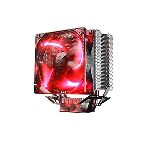 ZRJ Ventilador CPU CPU Cooler 12V Placa Base Sync 80 mm PWM Ventilador 4pin Cooler 4 HEATPIPES Auto CPU Refrigerador de Aire Socket Universal Socket CPU Ventilador Ventilador