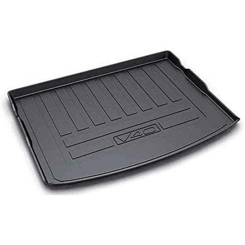 XLUCBS Car Boot Mat TPO Rubber Non-Slip Waterproof Car Rear Trunk Mat Custom Tailored Auto Rear Trunk Accessories, for Volvo V40 2015 2016 2017 2018 2019