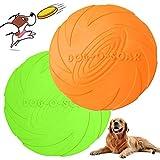 WELLXUNK Disque Chien, Frisbees pour Chien, 2 Pcs Frisbee Jouet Chien, pour Jeux Sport Exercice...