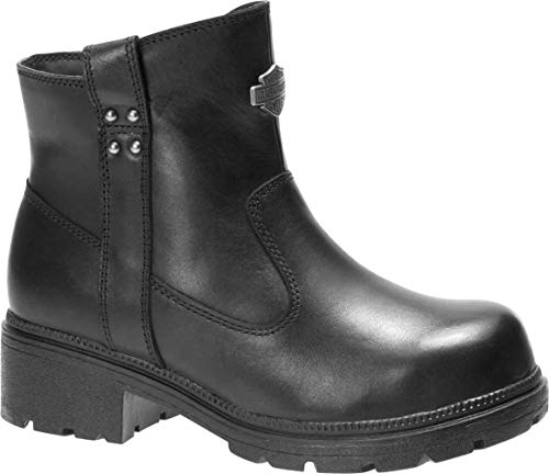 HARLEY-DAVIDSON FOOTWEAR Women's Camfield ST Construction Boot, Black, 7