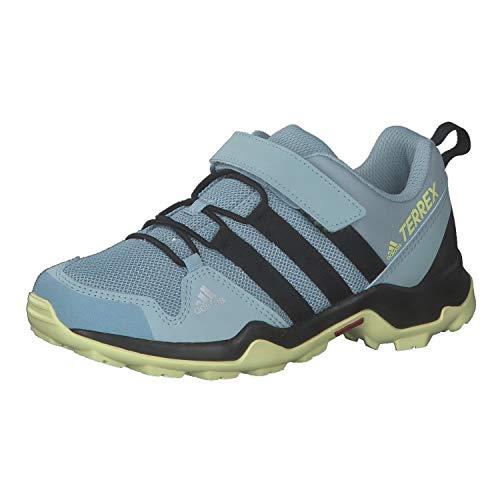 Adidas Terrex Ax2R CF K, Running Shoe Unisex-Child, Grey/Black/Yellow Tint, 35.5 EU