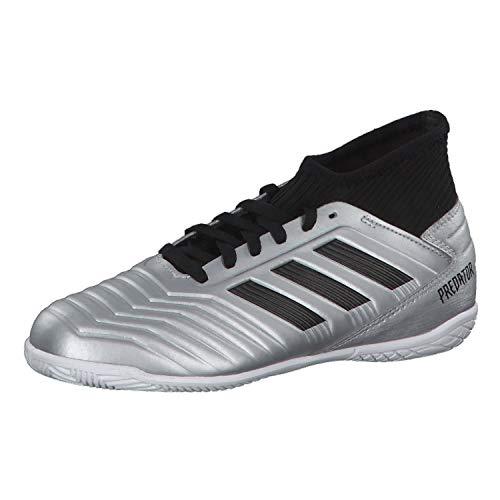 adidas Predator 19.3 IN Niño, Zapatilla de fútbol Sala, Silver Metallic-Core Black-Hi Red, Talla 5.5 UK (38 2/3 EU)