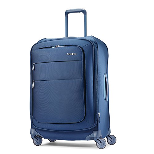 Samsonite Flexis Softside Expandable Luggage with Spinner Wheels, Carbon Blue