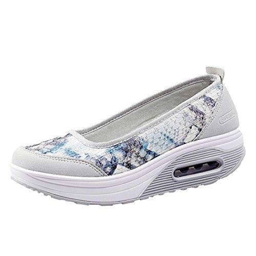 Zapatos para Mujer Otoño 2018 Zapatillas de Dama de Plataforma PAOLIAN Casual Cómodo Calzado de Señora de Lona Moda Breathable Zapatillas de Vestir