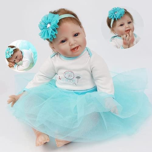 ZIYIUI Lifelike Reborn Bebé Niñas 22 Pulgadas 55cm Vinilo de Silicona Realista Hecho a Mano Reborn Muñecas para Niñas Juguetes Reborn Baby Dolls