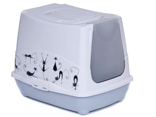 adena Katzentoilette Haube Silhouette - Sonderpreis Auslaufmodell inkl. Streuschaufel und Geruchsfilter