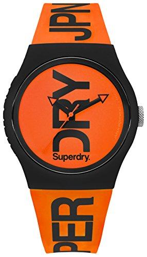Superdry Herren Analog Quarz Uhr mit Silikon Armband SYG189OB