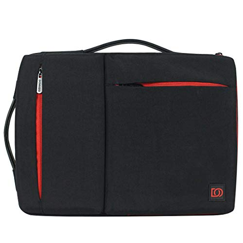 DOMISO 14 Inch Laptop Sleeve Washed Nylon Canvas Case Tablet Bag 2 Handle Protective Case Compatible with 14' Lenovo ThinkPad A485/HP ProBook 640 G4/645 G4/Dell New Inspiron 5481/14' Acer Swift 3