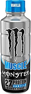 Monster Muscle Energy Protein Shake - Vanilla - 15fl.oz. (Pack of 12)