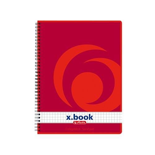 Herlitz x.Book Spiralblock, A5, 70 g/qm, 80 Blatt (12er Packung, kariert)