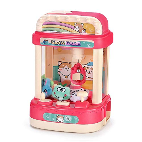 Mini Claw Machine for Kids, Plush Toys Candy Claw Machine Game Toy, Electronic Claw Toy Grabber Machine with Light & Sound, Toy Claw Machine for Girls Kids Boys Prizes,Giving Children The Best Gift