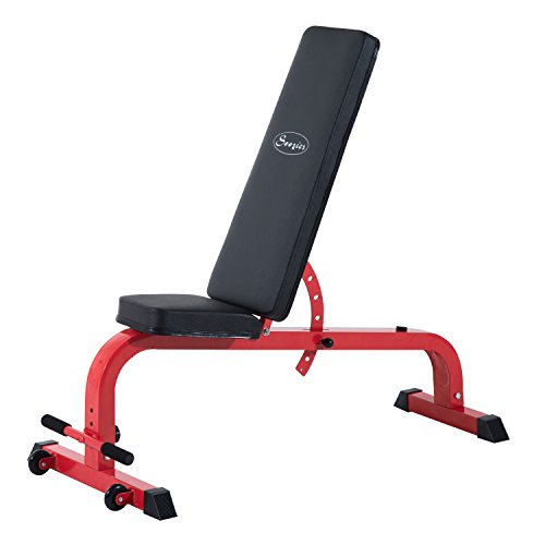 Soozier 7 Position Folding Adjustable Weight Bench - Red/Black