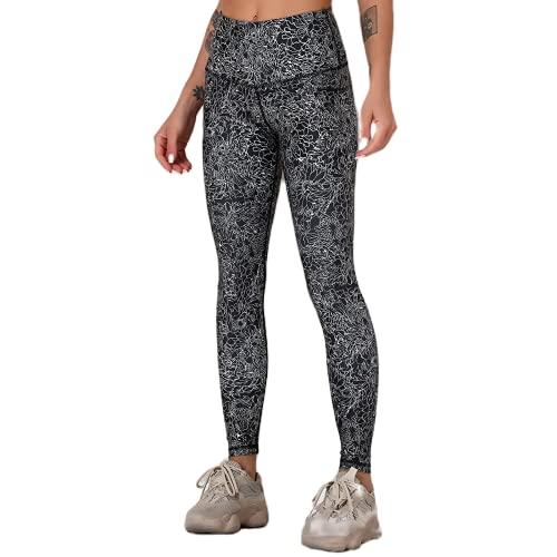 QTJY Pantalones de Yoga a Rayas de Color Pantalones de Fitness de Secado rápido elásticos Suaves Caderas de Cintura Alta Pantalones Deportivos para Correr al Aire Libre D XL