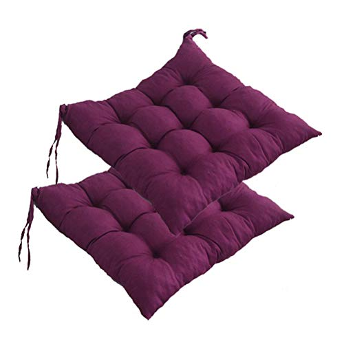 Cuscino per sedia da esterno/interno, cuscino in vimini addensato Cuscino quadrato imbottito per sedia Cuscini per sedili con lacci per sedie da giardino Sedia da pranzo per ufficio in casa, 40,6 x 4