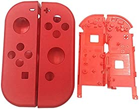Full Housing Faceplate Handle Shells Case Cover with Battery Middle Frame Shell Plate for Nintendo Switch Controller Joy-Con Faceplate Mario Red