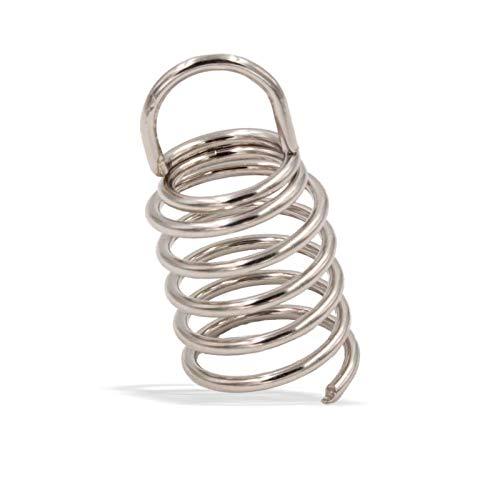Spiralanker/Spiralhaken/Drahtschraube Drahtspirale - 2mm Ø22 Länge 44mm für Akustikschaumstoff - Schallabsorber - Akustik/Faserplatten/Basotect/Baffel | Stahl vernickelt
