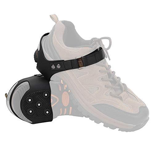 Keenso 1 par de crampones de Hielo Antideslizantes de 5 Dientes, Tacos de Hielo, puños para Zapatos, Tacos de Picos, crampones para Senderismo, Escalada(M36-38)