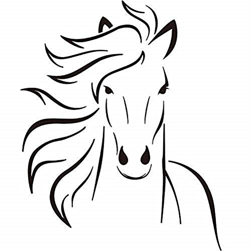 Boodecal Mustang Horse Silhouette Wall Decal Mural Decor For Bedroom Kids Room Playroom 22*27 Inches